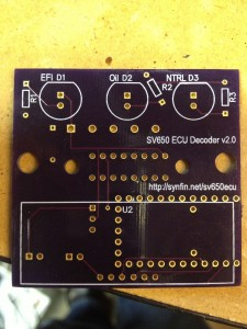 Front side of the v2.0 PCB