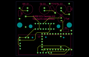 Top side of the v3.0 board