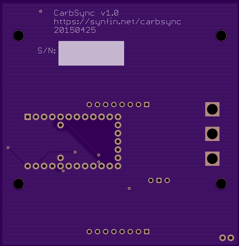 CarbSync v1.0 PCB Bottom